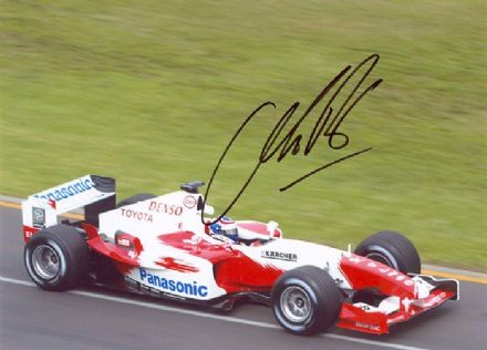 Olivier Panis, Toyota F1, signed 7x5 inch photo.